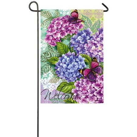 - Beautiful Hydrangeas Garden Flag, Welcome guest to your home with this cheery, spring flag! By Evergreen Enterprises Inc from USA