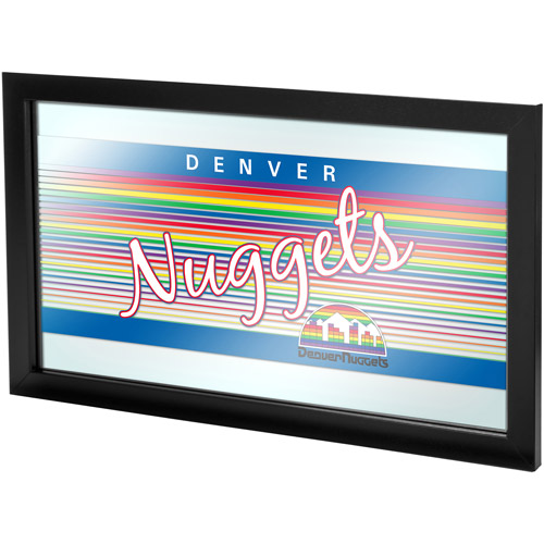 Denver Nuggets Hardwood Classics NBA Framed Logo Mirror