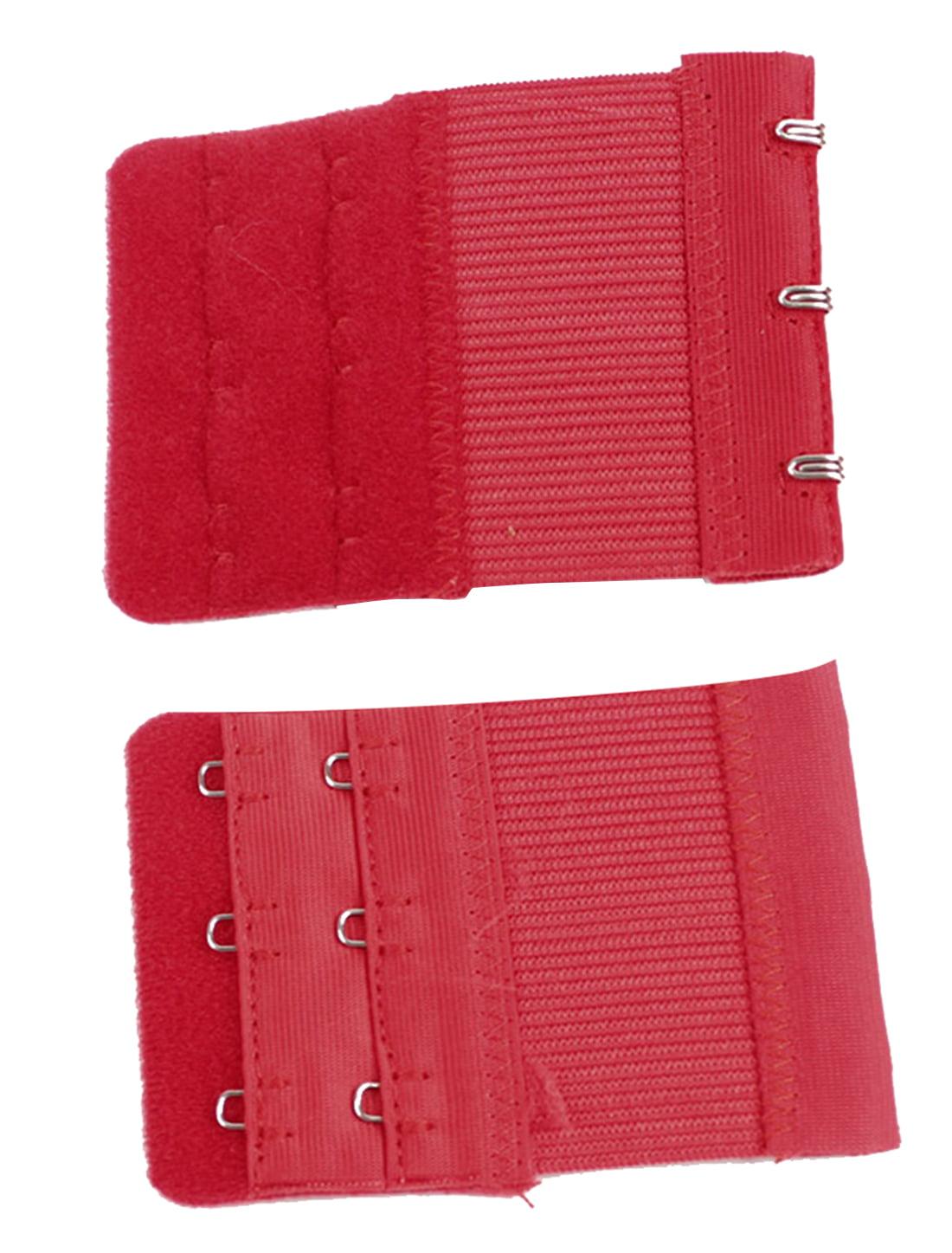 sourcing map Cotton Blends Women 3 Rows 3 Hooks Underwear Brassiere Bra Extender Extension 2pcs White
