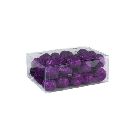 36 Piece Purple Glitter Mini Pumpkins - Purple Pumpkin