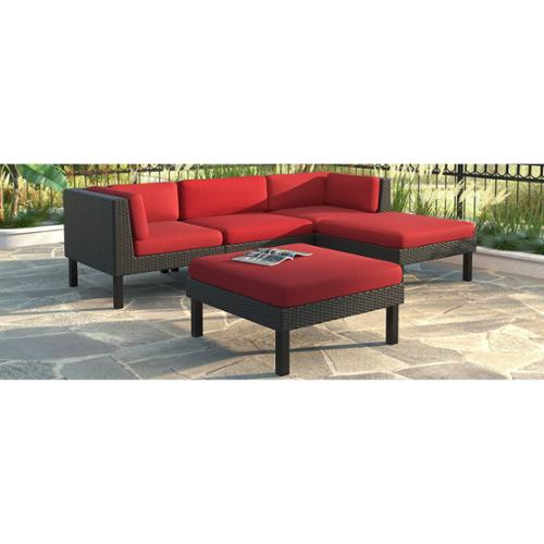 CorLiving Oakland 5pc Sofa with Chaise Lounge Patio Set