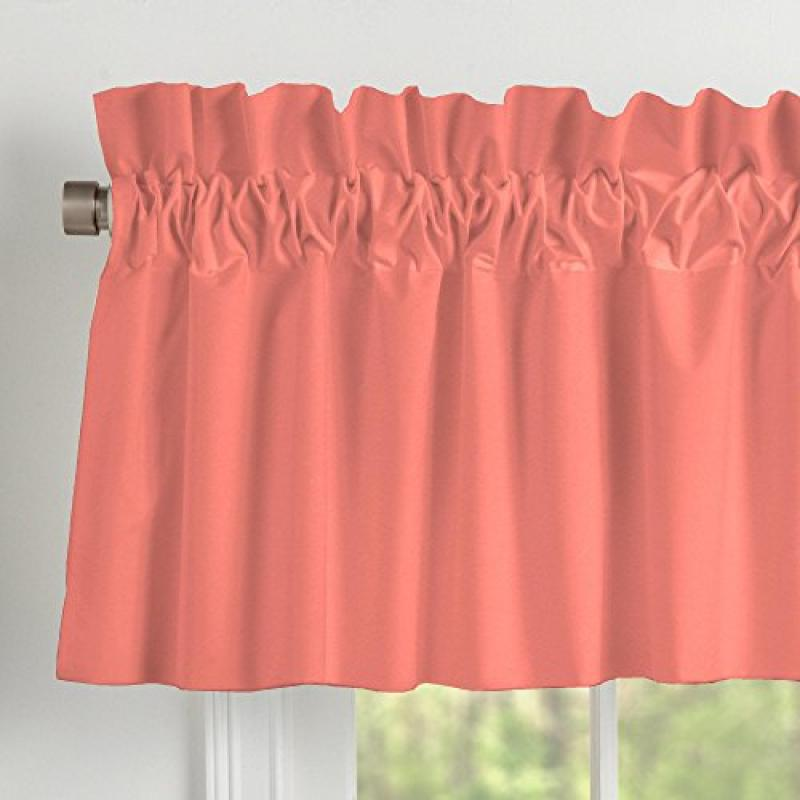 Carousel Designs Solid Coral Window Valance Rod Pocket by Carousel Designs
