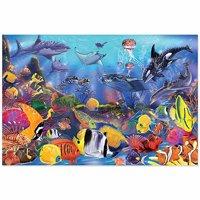 Melissa & Doug Underwater Floor Puzzle (Extra-Thick Cardboard Construction, Beautiful Original Artwork, 48 Pieces, 2′ × 3′)