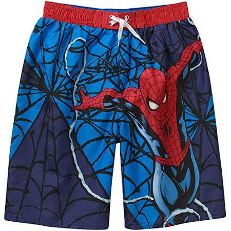 324710bf12 Marvel - Spiderman Boys Swim Shorts Size 4/5 - Walmart.com