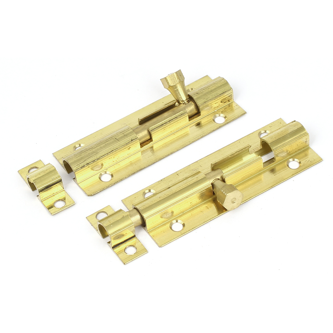 "Drawer Dresser Wooden Case 2.8"" Long Security Lock Brass Barrel Bolt Latch 2pcs."