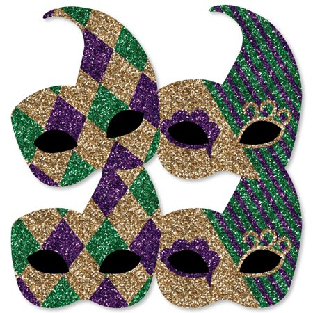 Mardi Gras - Mask Decorations DIY Masquerade Party Essentials - Set of 20 - Party City Mardi Gras Decorations
