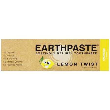 Redmond Earthpaste, Natural Non-Flouride Toothpaste, Lemon Twist, 4 Ounce - Lemon Twist