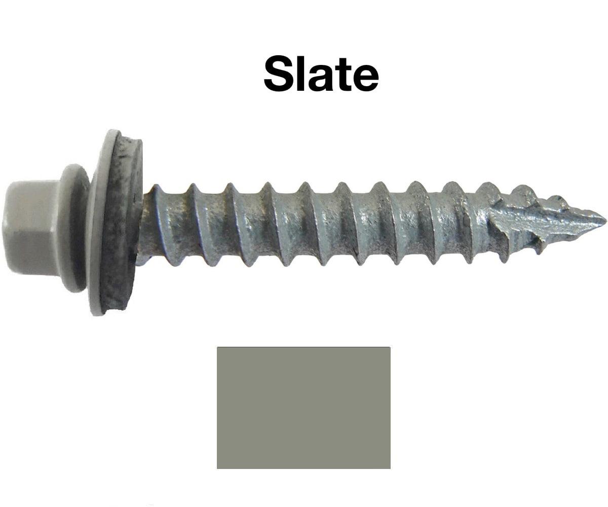 14 Metal Roofing Screws 250 Screws X 1 Quot Slate Hex Head