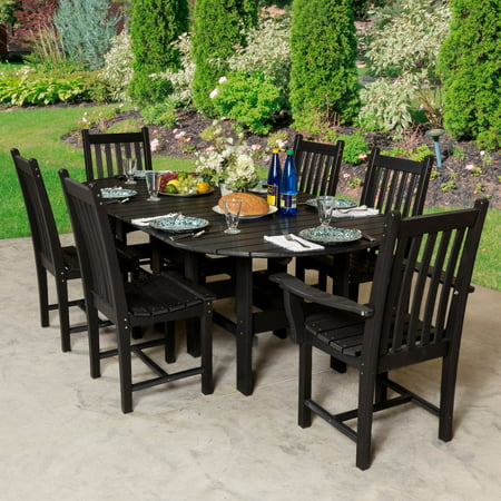 Little Cottage Classic Plastic Oval Patio Dining Set