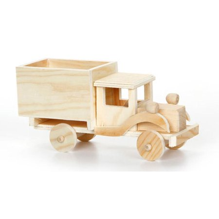 Blank Unfinished Wooden Toy Truck 4 Inches