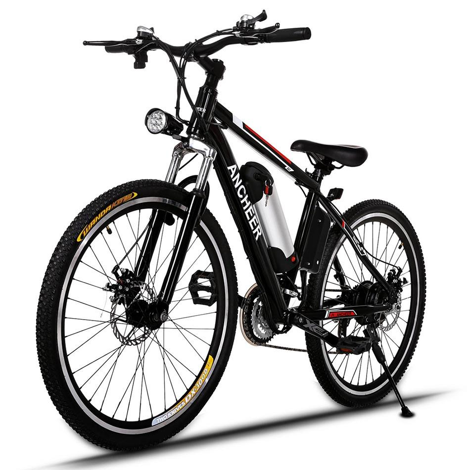 "25""Power Plus Electric Mountain Bike with Removable Lithium-Ion Battery, Aluminum Alloy Frame Cycling Bicycle"