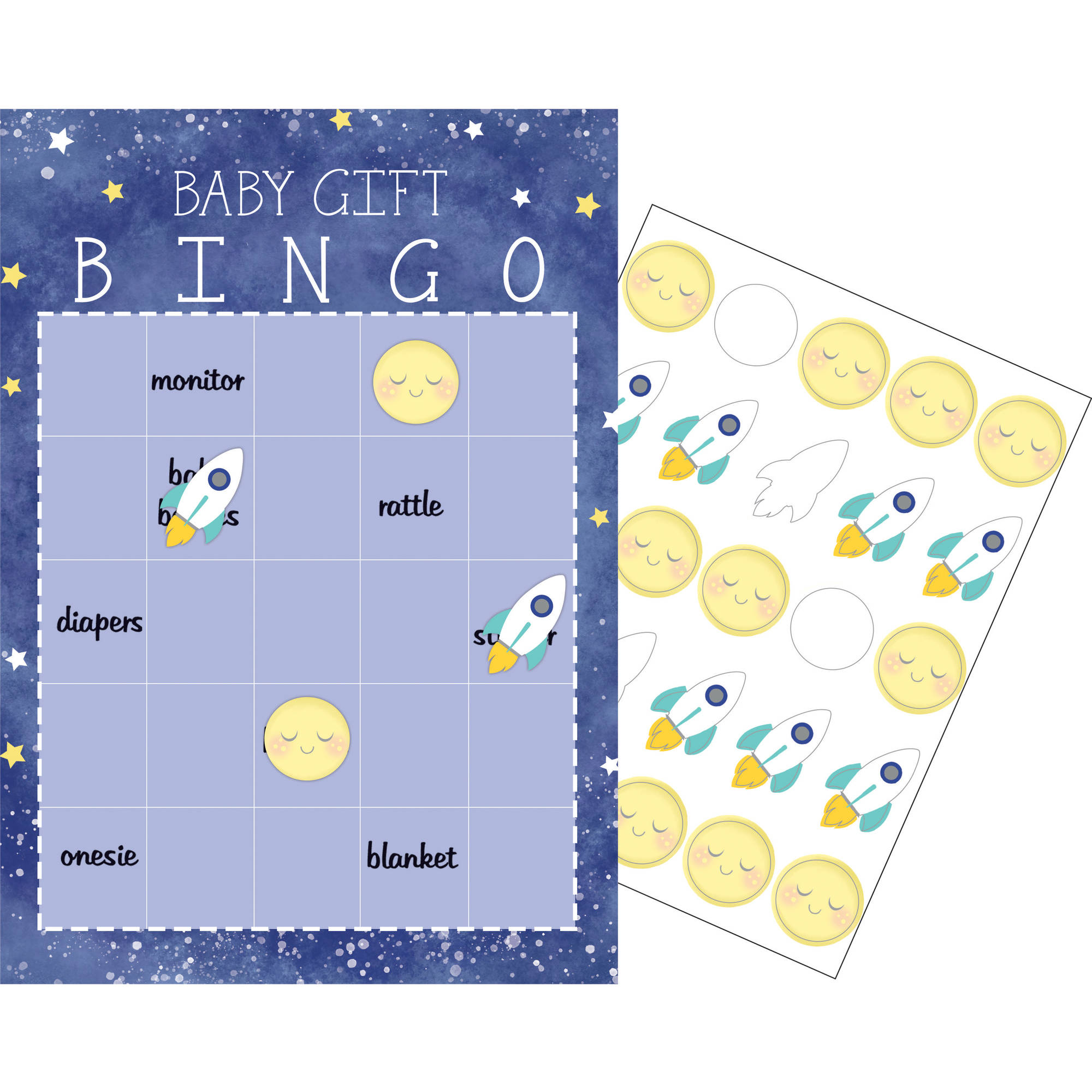 To the Moon and Back Bingo Game, 10-Pack