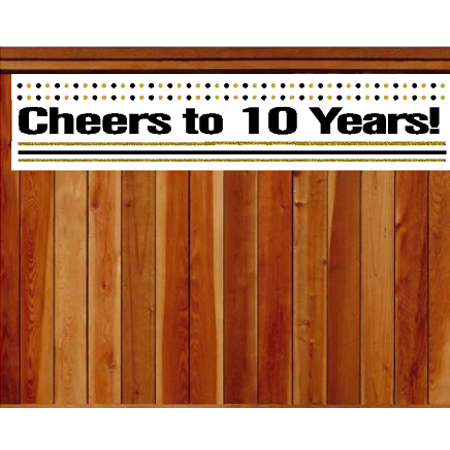 Item#010CIB 10th Birthday / Anniversary Cheers Wall Decoration Indoor / OutDoor Party Banner (10 x 50inches) - Cheers Banner
