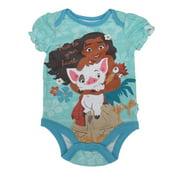 "Disney Baby Girls Turquoise Moana ""True To Your Heart"" Print Bodysuit 0-3M"