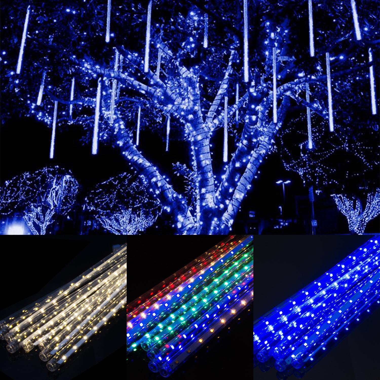 10 30 50cm LED Lights Meteor Shower Rain Drop 8//10 Tube Christmas Tree Outdoor