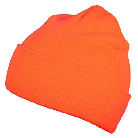 Hi-Vis High Visibility Safety Caps Hats Bandanas Doo Rags Beanies Hunting ( Safety Orange Beanie Skull Cap) - Walmart.com d9e258fef54d
