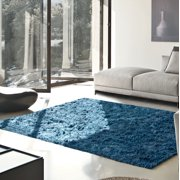Impressions Jessop Hand-Woven Solid Shag Indoor Area Rug 5x8