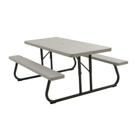 Lifetime 6 Foot Picnic Table, Putty, (Four Sided Picnic Table)