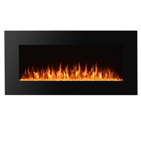 """Zimtown 36"""" Wall Mounted Glass Electric Fireplace w/ Built ..."""