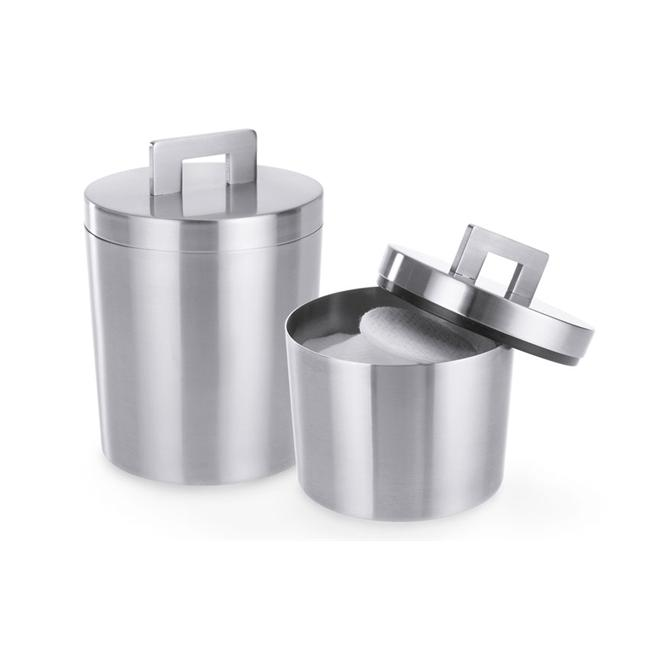 Zack 22448 SCORTA canister H.  3. 74 inch Stainless Steel