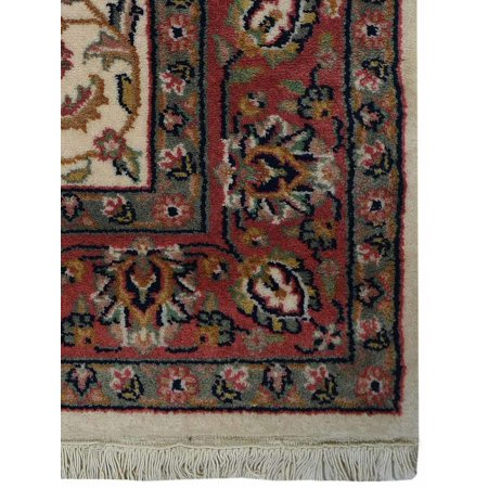 - Rugsotic Carpets Hand Knotted Persian Wool 4'x6' Oriental Area Rug Kashan Cream PR0015