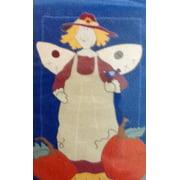 "Harvest Angel Applique Fall House Flag Pumpkin Sunflower Autumn  28""x 40"""