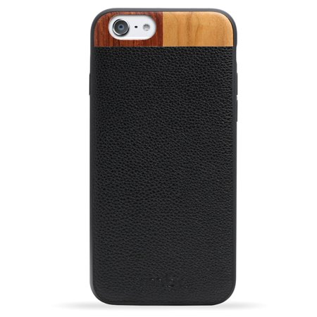 Brown Framed Case Wall (Real Black Leather iPhone 6 / 6S Case Cover)