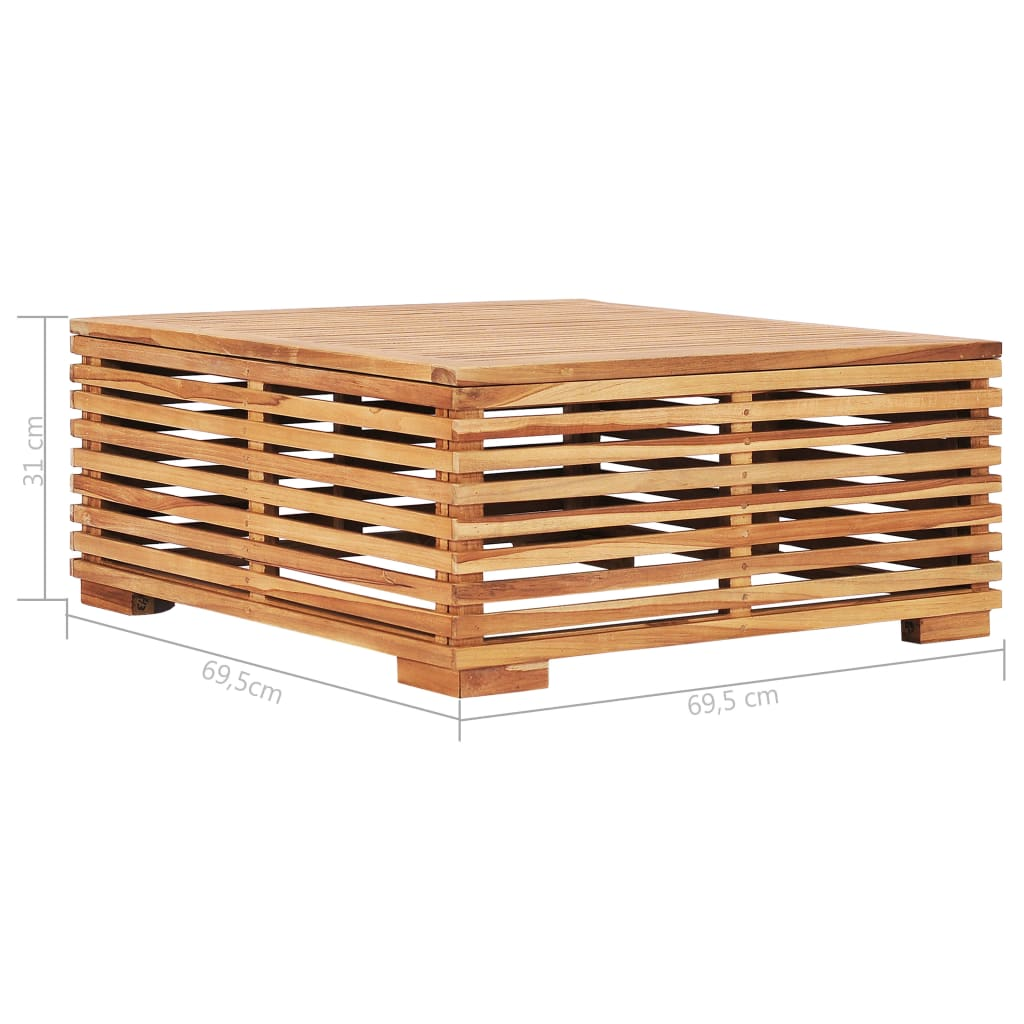 Greensen Garden Table 27 4 X27 4 X12 2 Solid Teak Wood Hot Sale Walmart Com Walmart Com