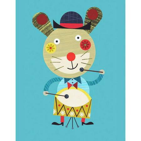 Oopsy Daisy - Rabbit's Got Rhythm Canvas Wall Art 14x18, Ellen Giggenbach