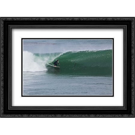 206 Matt - Surfing VI 2x Matted 24x18 Black Ornate Framed Art Print by Peterson, Lee