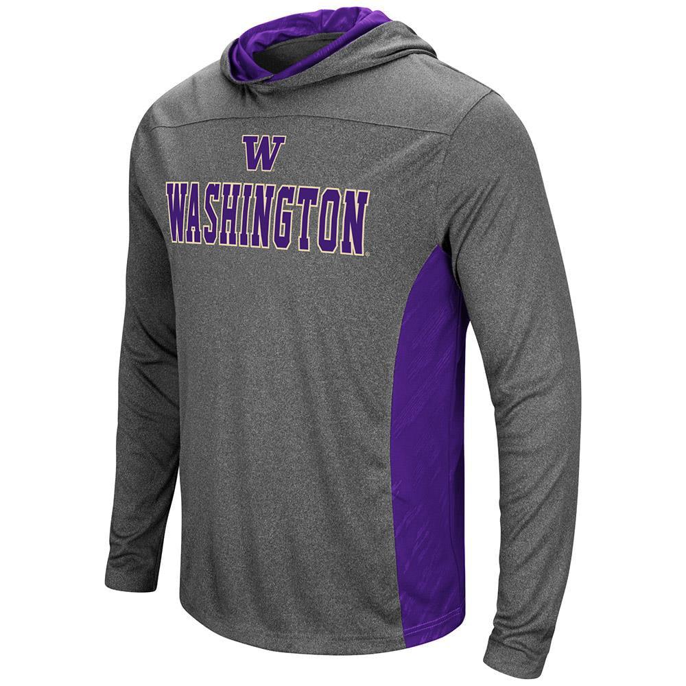 Mens Washington Huskies Wingman Sleet Hooded Tee Shirt