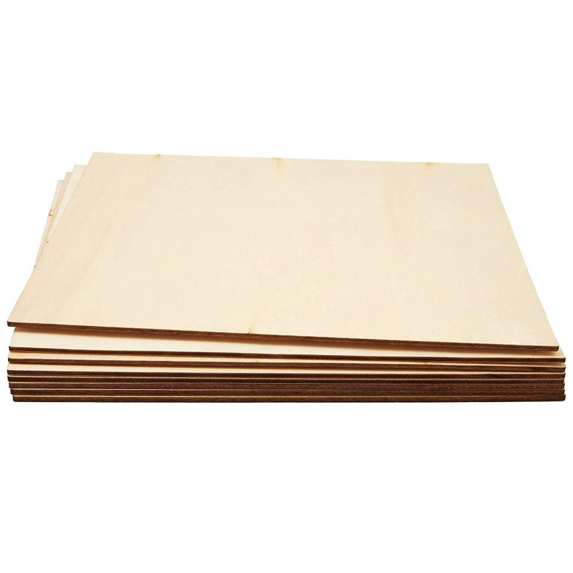Bright Creations 8-Pack Square Basswood Plywood Thin Sheets for Wood Burning 10 Inches