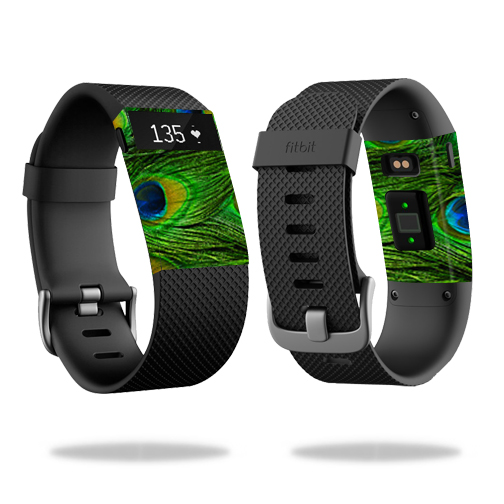 Skin Decal Wrap for Fitbit Charge HR cover skins sticker watch Peacock