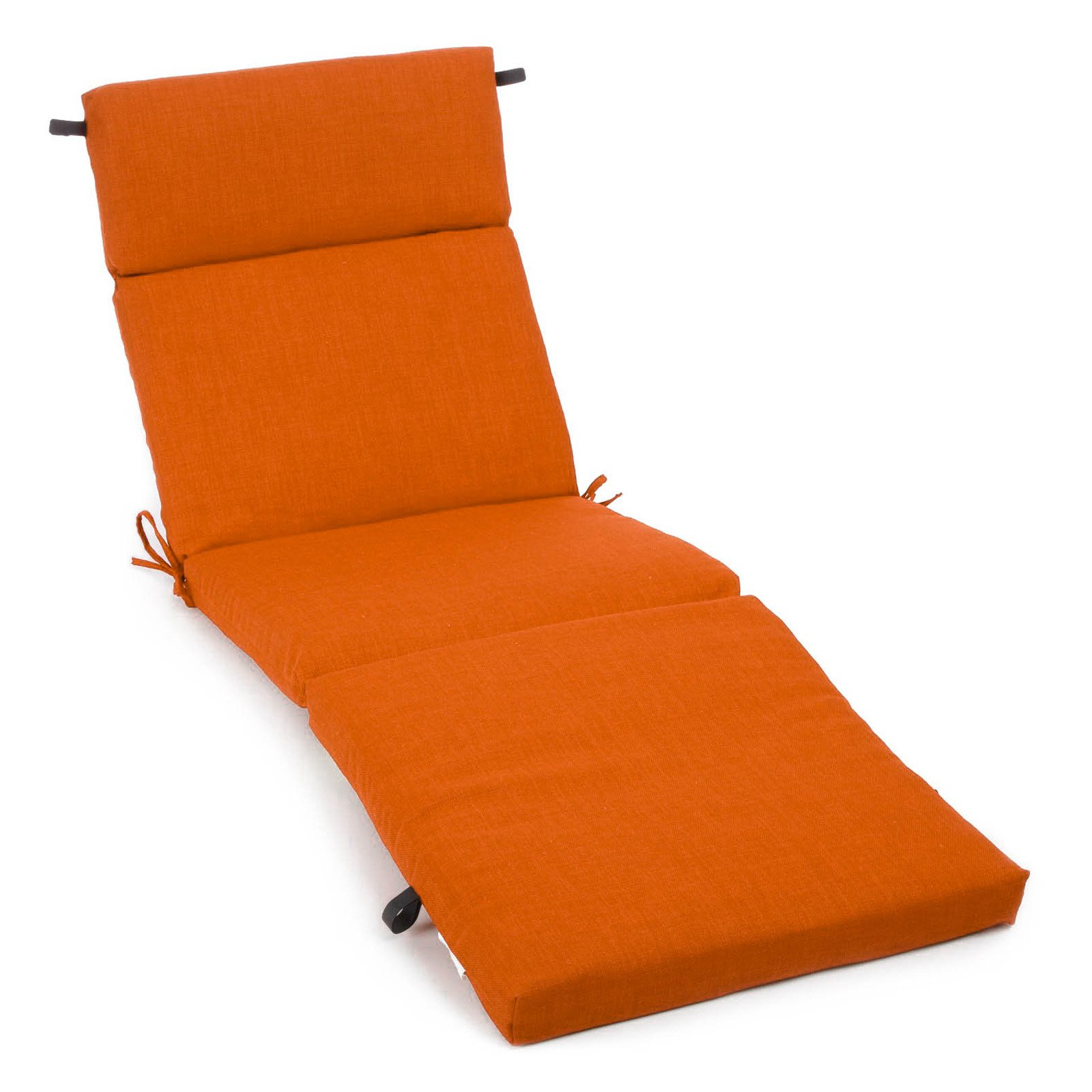 Blazing Needles 72 x 24 in. 3-Sectioned All Weather Outdoor Chaise Lounge Cushion
