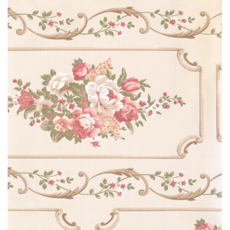 FLORAL - Flower Colorful Cream Wallpaper Roll - image 1 de 1