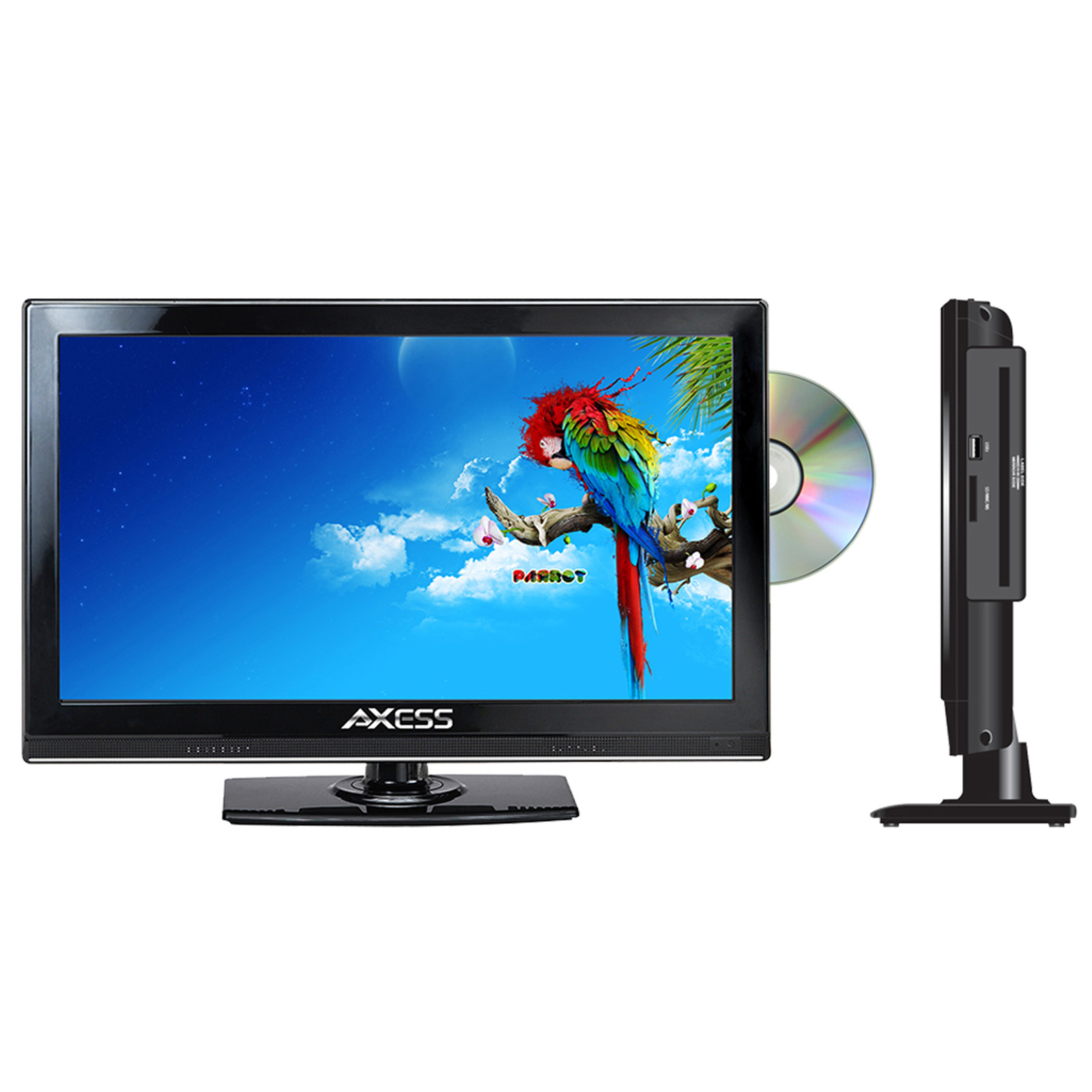 "Axess 13.3"" Class HD (720P) LED TV with Built-in DVD (TVD1801-13)"