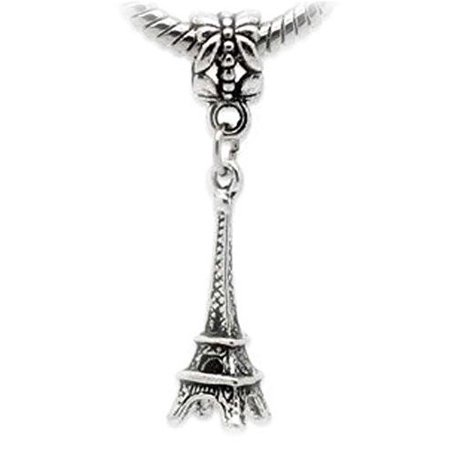 Eiffel Tower Charm 3D Dangle Charm European Bead Compatible for Most European Snake Chain