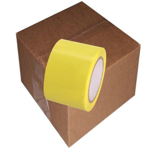 Yellow Vinyl Tape 3 inch x 36 yd. Roll 16 Roll Case
