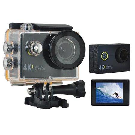 Adults Kids 4K Black Sports Action Camcorder Camera, 2