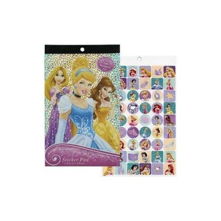 Disney Princess Foil Cover Sticker Pad Over 200 Stickers Multi-Colored (Disney Princess Stickers)