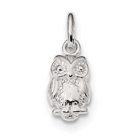 6729761eddefb Ice Carats Designer Jewelry Gift USA - 925 Sterling Silver Owl Pendant  Charm Necklace Bird Gifts For Women For Her - Walmart.com
