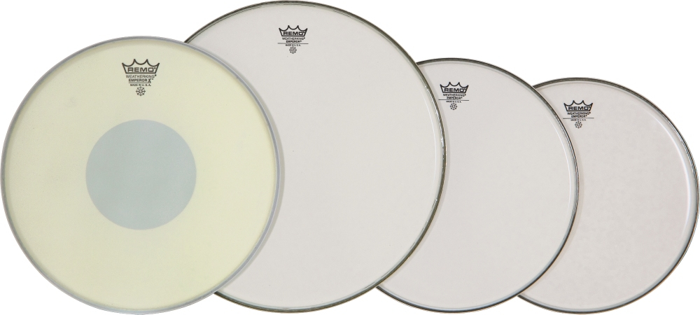 "Remo Drum Head ProPack 12 13 16 Smooth Emperor with14"" Emp X Snare Head by Remo"