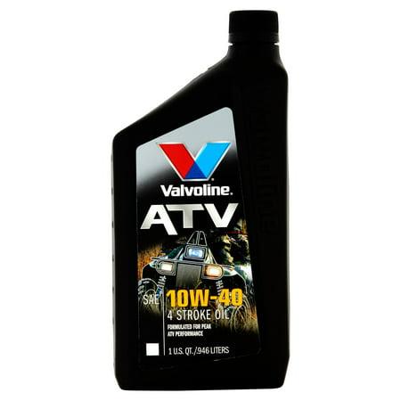 Valvoline 4-Stroke ATV Conventional 10W-40 Motor Oil, 1 Quart