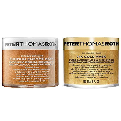 Peter Thomas Roth 24K Gold Pure Luxury Lift and Firm Mask Mask 5oz - 2 Pack Superloofah Exfoliating Mitt by Earth Therapeutics (PACK OF 6)