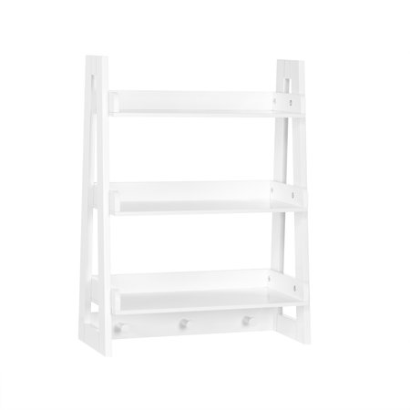 RiverRidge Amery Collection - Ladder Wall Shelf - White