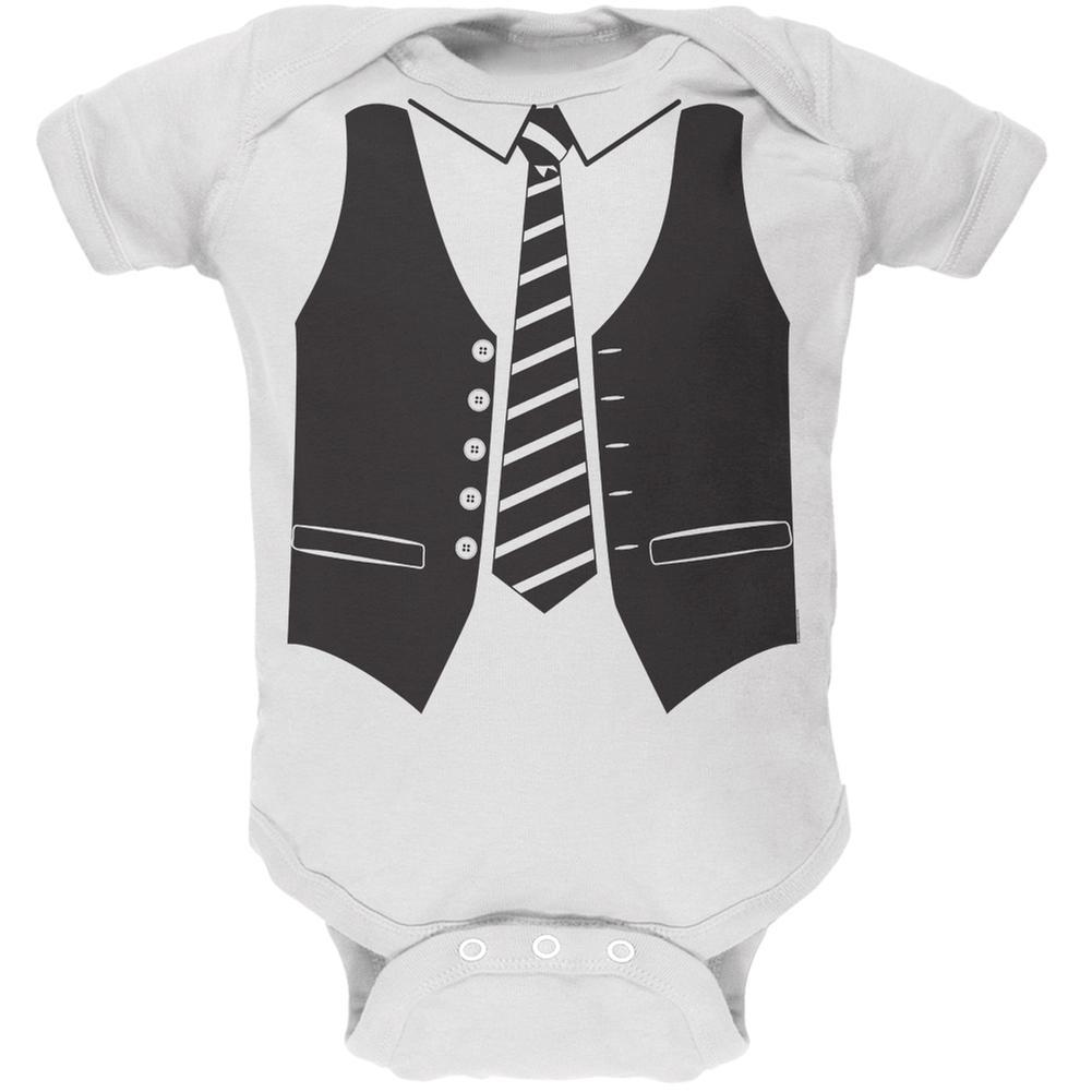 Vest Costume White Soft Baby One Piece