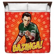 Big Bang Theory Bazinga King Duvet Cover White 104X88