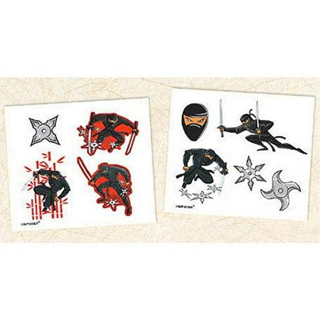 Ninja Temporary Tattoos - Assorted - 8 Tattoos/Package](Ninja Turtles Tattoo)