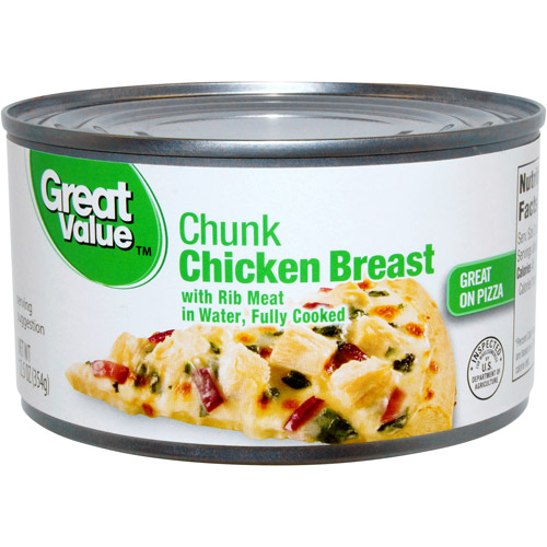 Great Value Chunk Chicken Breast, 12.5 oz