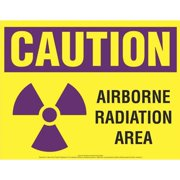 COMPLYRIGHT EHG08 Caution Sign,Airborne Radiation Area